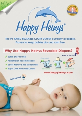 happy heinys resuable diapering system poster