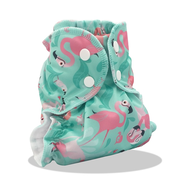 applecheeks envelop cloth diaper cover - FLAMINGLE