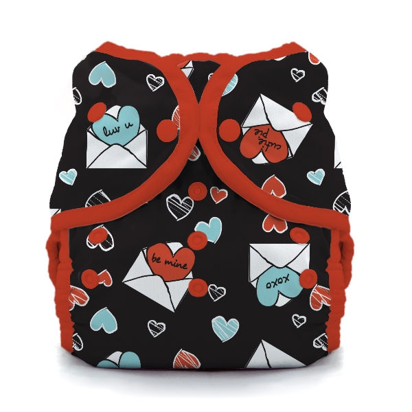 thiristies duo wrap diaper cover -  love notes