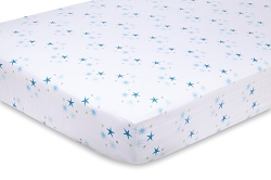 Aden and Anais organic Crib Sheet - starstruck