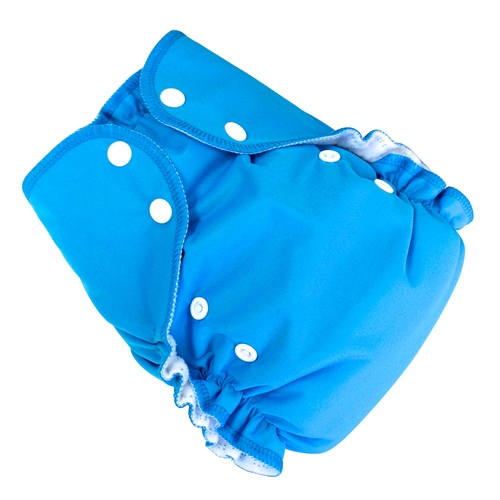 amp cloth diaper - aqua