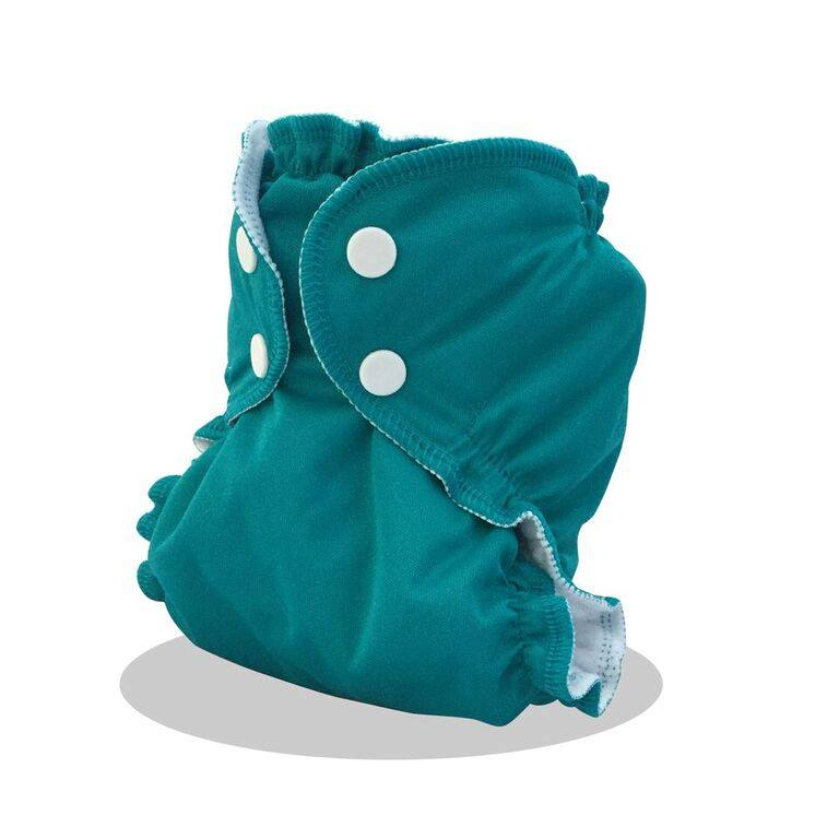 applecheeks envelop cloth diaper cover - kiss n teal