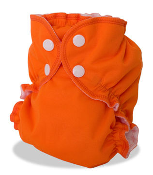 applecheeks envelop cloth diaper cover - orange