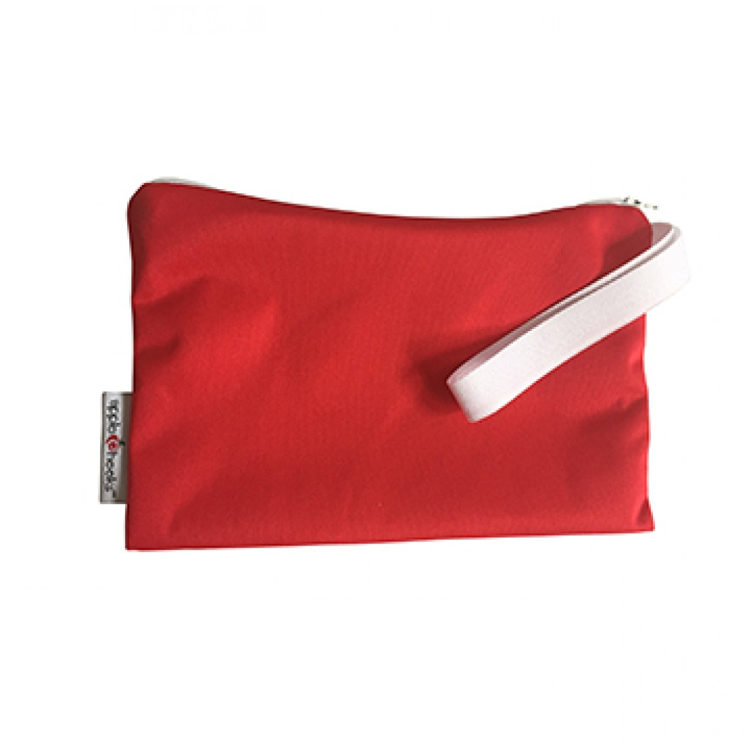 applecheeks zippered storage bag -  Cherry Tomato