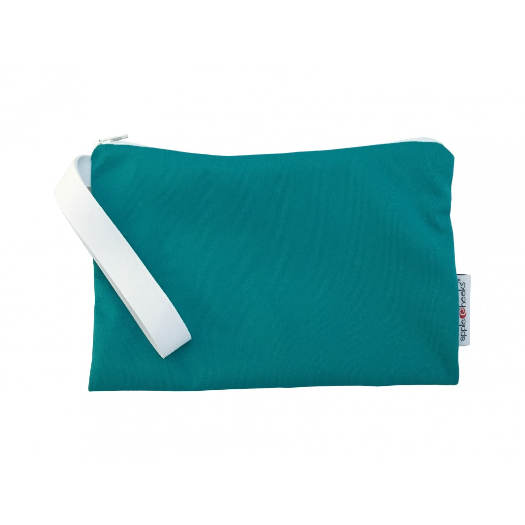 applecheeks zippered storage bag -  Kiss N Teal