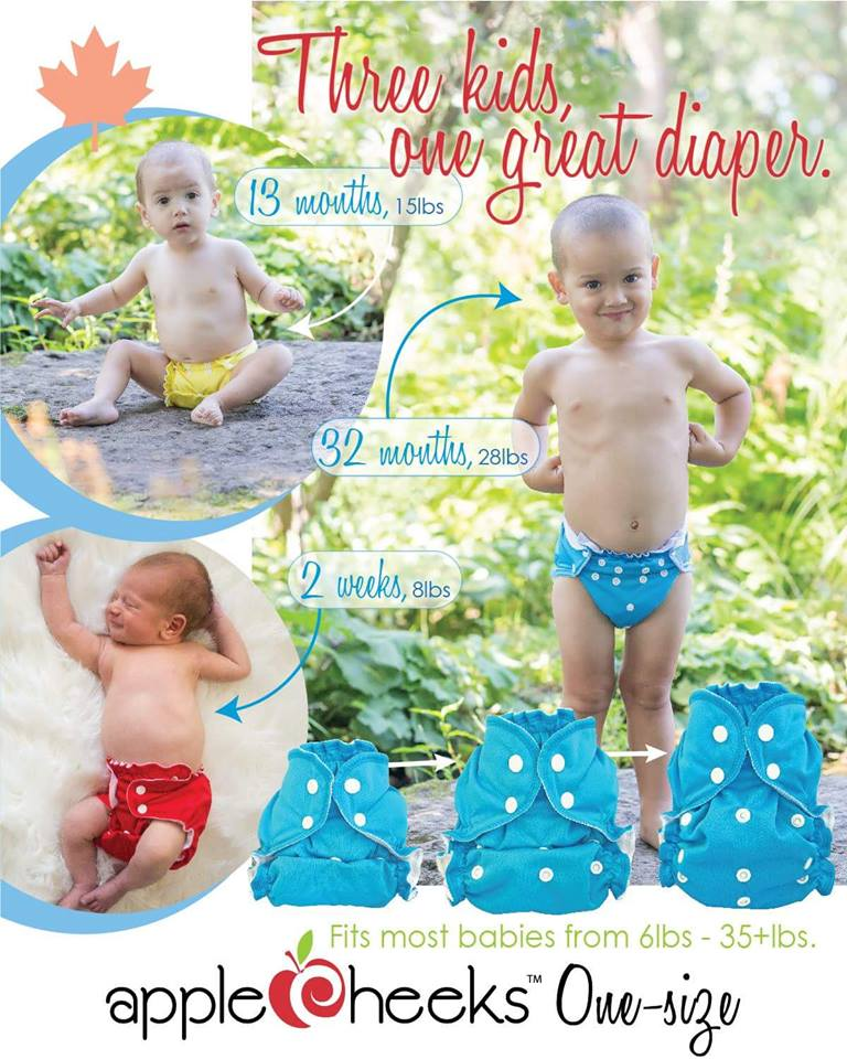 applecheeks one size diaper cover details