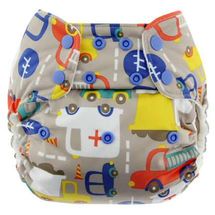 blueberry one size diaper - traffic