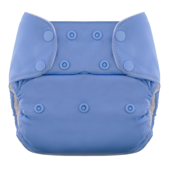 blueberry one size diaper - perwinkle