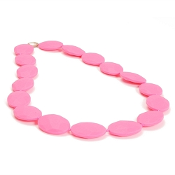 chewbeads - hudson teething necklace - pink
