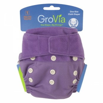 GroVia One Size Cloth Diaper Shell Set - Blackberry