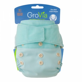GroVia One Size Cloth Diaper Shell Set - Ice