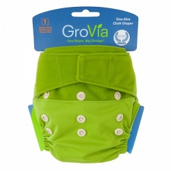 GroVia One Size Cloth Diaper Shell Set - Kiwi