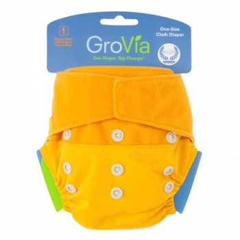 GroVia One Size Cloth Diaper Shell Set - Mandarin