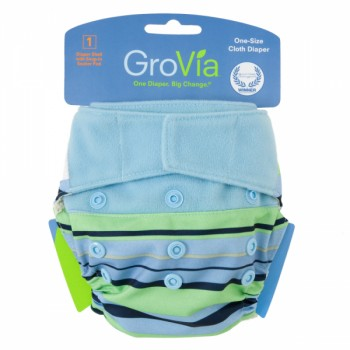 GroVia One Size Cloth Diaper Shell Set -Seaside