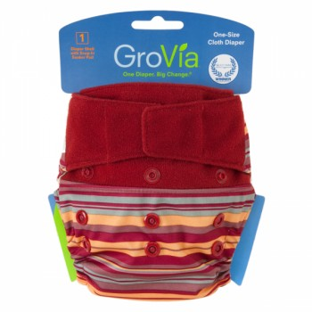 GroVia One Size Cloth Diaper Shell Set -Sunset
