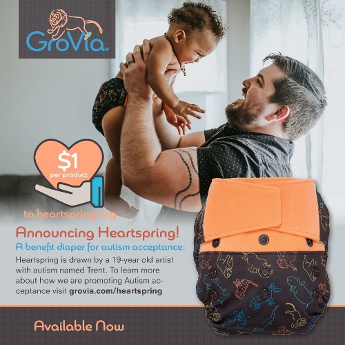 grovia heart spring cloth diapers