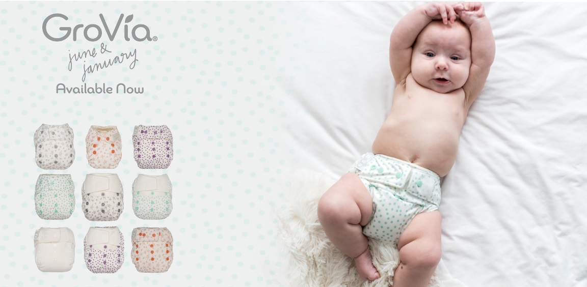 grovia cloth diapers - snow series