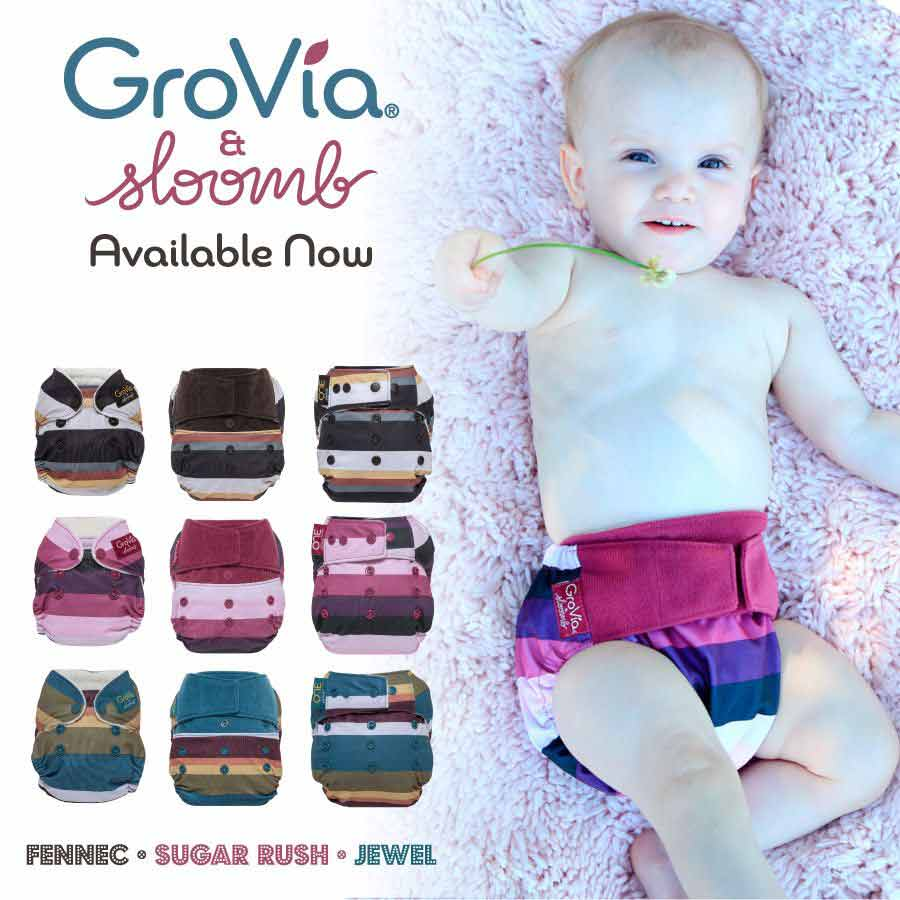 grovia x sloomb cloth diapers