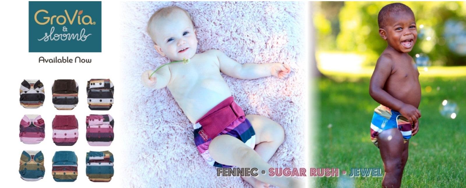 grovia cloth diapers canada - sloomb collaboration
