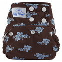happy heinys one for all one size cloth diaper - blue hibiscus