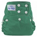 happy heinys one for all one size cloth diaper - kelly green
