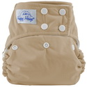 happy heinys one for all one size cloth diaper - latte