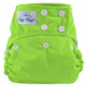 happy heinys one for all one size cloth diaper - limegreen