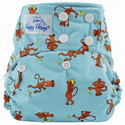 happy heinys one for all one size cloth diaper - silly monkey