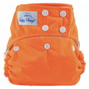 happy heinys one for all one size cloth diaper - orange