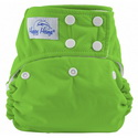 happy heinys one for all one size cloth diaper - spring green