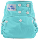 happy heinys one for all one size cloth diaper - turquoise