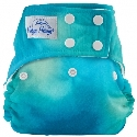 happy heinys one for all one size cloth diaper - tye dye ocean