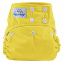 happy heinys one for all one size cloth diaper - yellow
