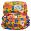 happy heinys one size cloth diaper - flowers