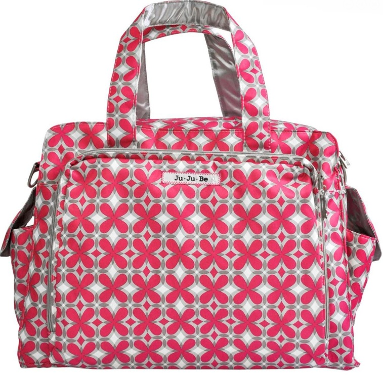 jujube diaper bag be prepared - pink pinwheels