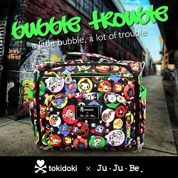ju ju be bubble trouble diaper bag launch