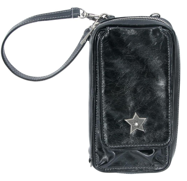 jujube wallet be major earth leather - black