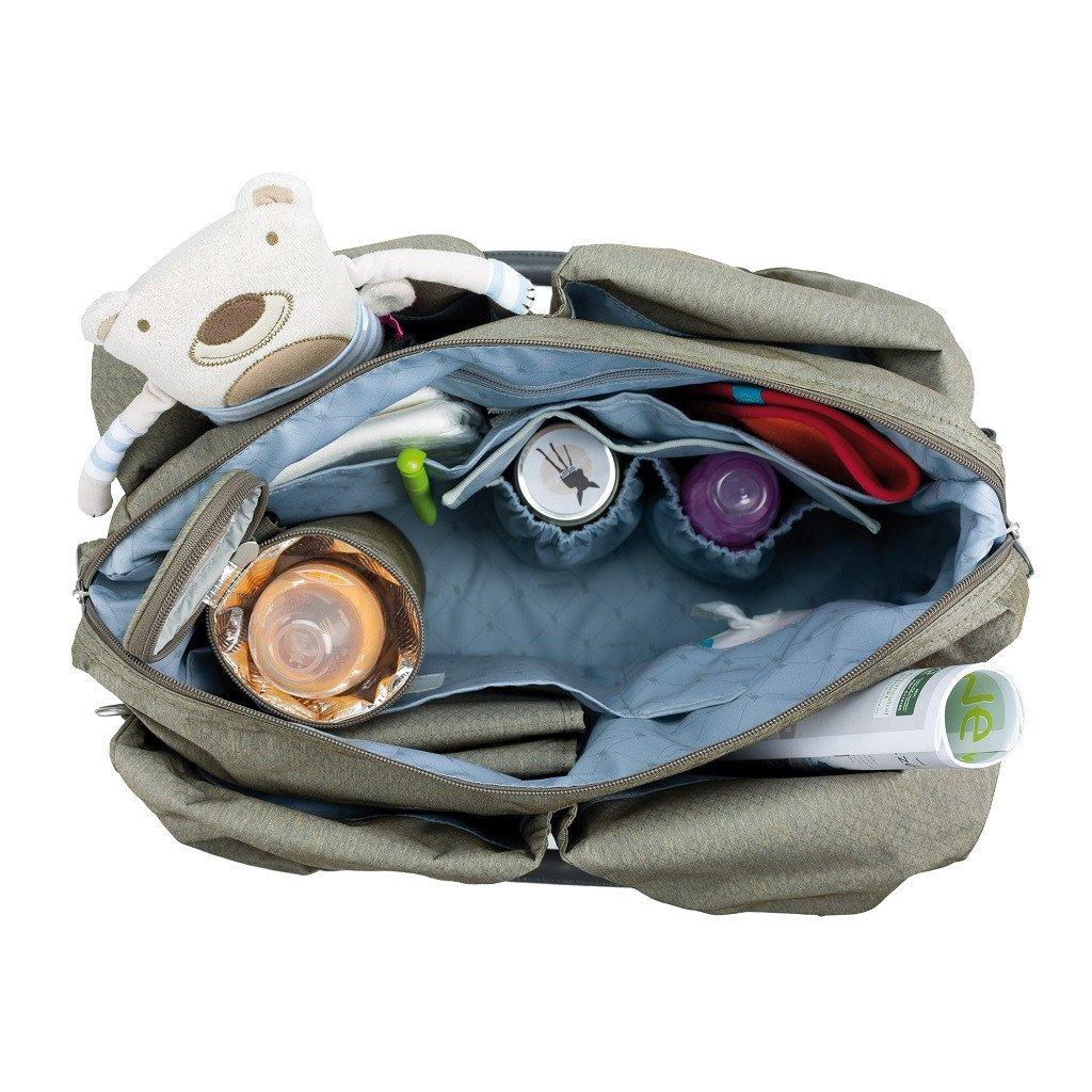 lassig green label neckline diaper bag spin dye gold melange. Black Bedroom Furniture Sets. Home Design Ideas