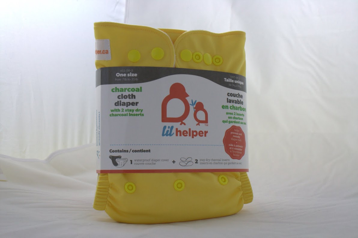 lil helper cloth diaper - Yellow