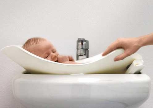 puj tub soft infant bath tub. Black Bedroom Furniture Sets. Home Design Ideas