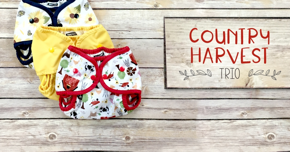 thirsties cloth diapers - country harvest collection