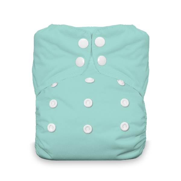 Thirsties One Size All in One Cloth Diaper - Snap - Aqua