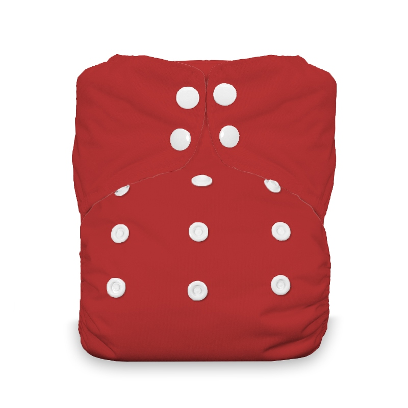 Thirsties One Size All in One Cloth Diaper - Snap - scarlet