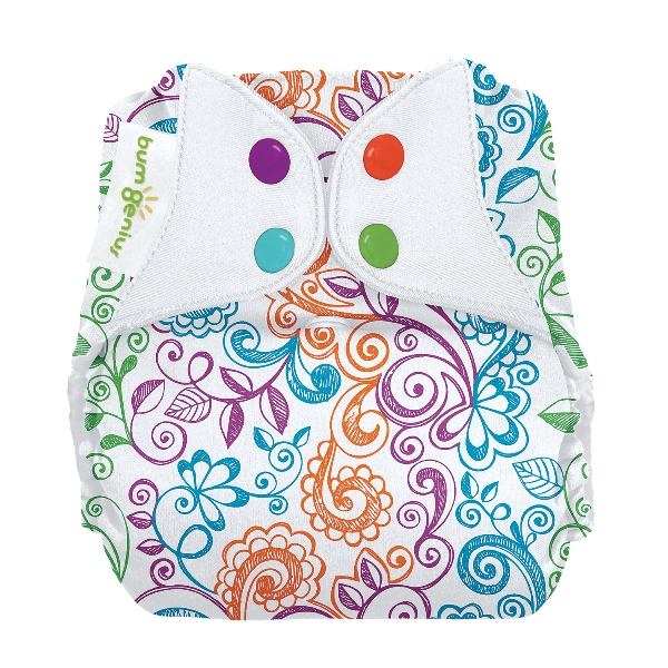 bumGenius freetime cloth diapers with snaps - Lovelace