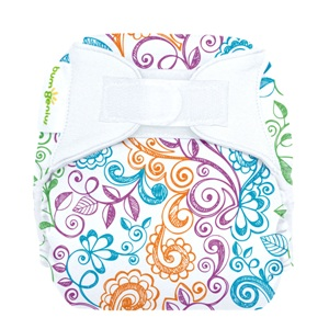 bumGenius 4.0 one size cloth diapers with hooks - lovelace