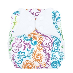 bumGenius 4.0 one size cloth diapers with snaps - lovelace