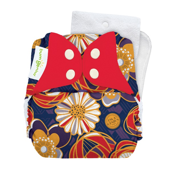 bumGenius 5.0 one size cloth diapers with snaps - Maggie