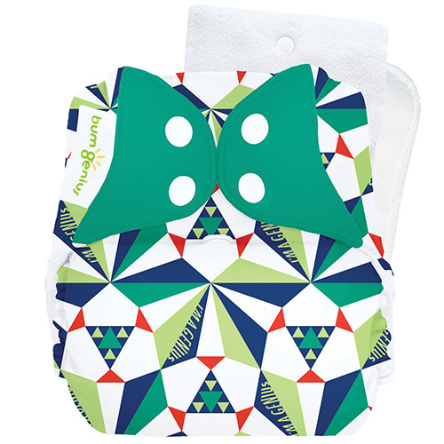 bumGenius 5.0 one size cloth diapers with snaps - Sierpinski