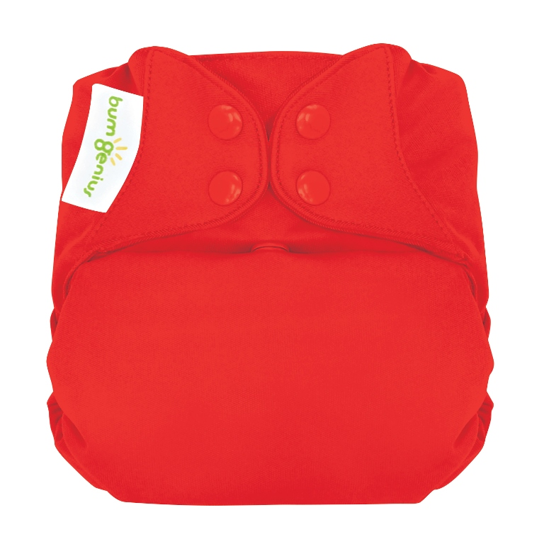 bumgenius organic one size diaper - pepper
