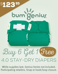 bumgenius sale - buy 6 get 1 free